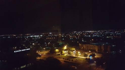 My view from my room at night