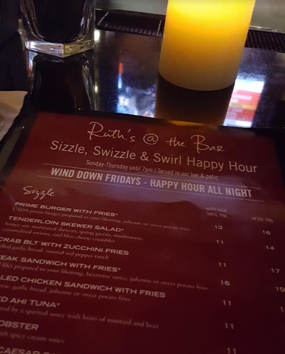 A Snapshot of the Happy Hour Menu